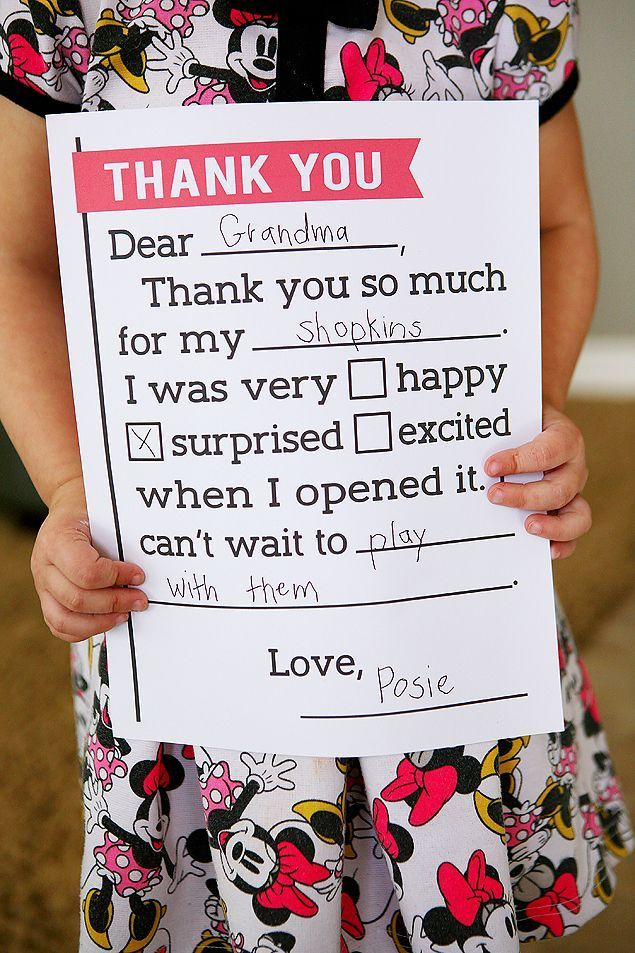 37 best Printable kids thank you notes images on Pinterest | Free ...