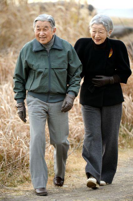 HIM Emperor Akihito and HIM Empress Michiko arrived at Hayama Imperial Villa in Hayama Town, Kanagawa Prefecture.