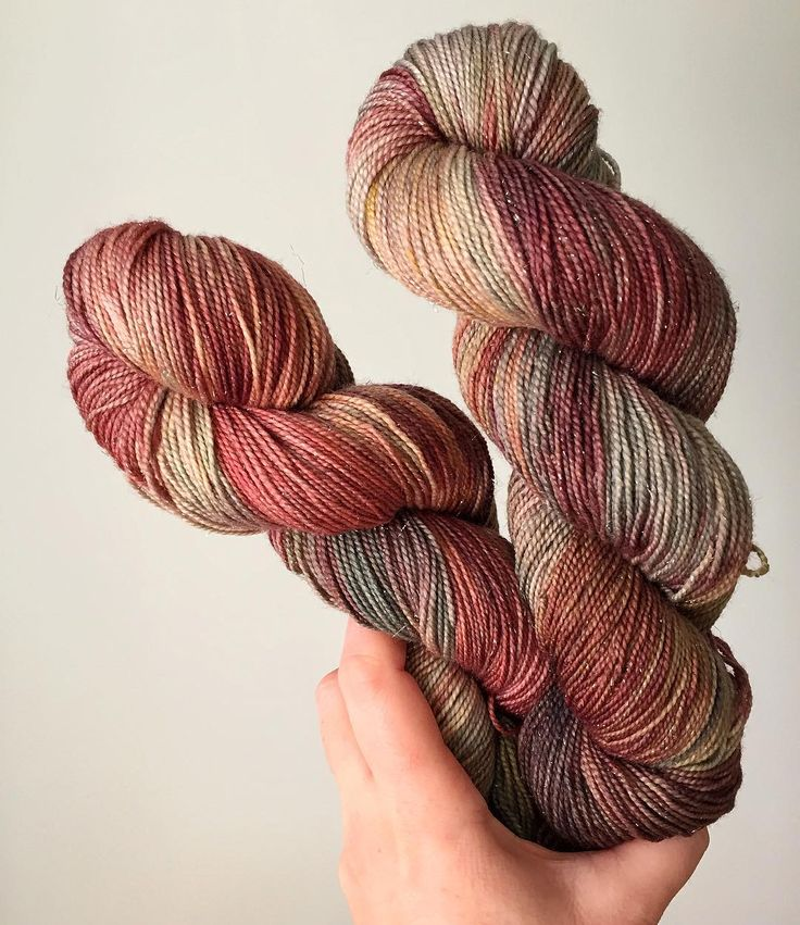 """Christmas music: yay or nay?  I'm firmly on the side of """"Yay!"""" But I know this is a controversial topic  Yarn pictured: """"Garland"""" my Christmas colourway on sparkle sock yarn (in stock right now in my shop!) #juliannasfibre"""