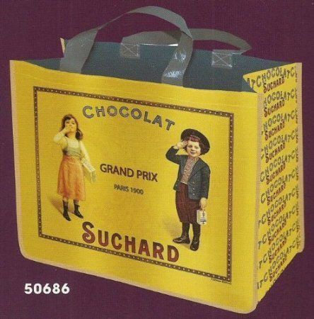 FRENCH SHOPPING TOTE BAG AMBIANCE RETRO AD SUCHARD CHOCOLATE by Bags: Material: Plastic polypropylene;Lightweight and resistant;Dimensions…