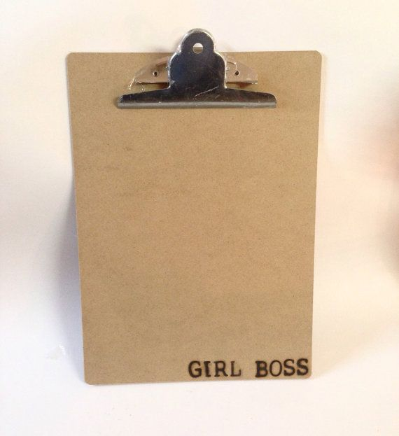 Custom Clipboard  Girl Boss  Feminist Quote by SCBoutique123