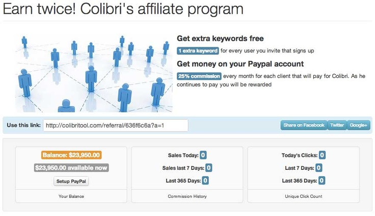 Earn twice with Colibri!