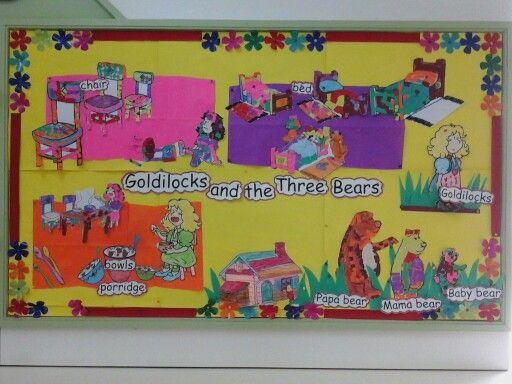 Class display board- Goldilocks and the Three bears