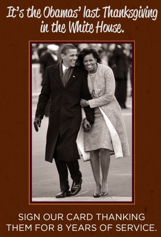 HAPPY #THANKSGIVING TO YOUR FAMILY  THANK YOU BOTH FOR THESE PASS EIGHT (8) YEARS 2009-2016 WE WILL MISS YOU GOD BLESS YOU #44 #President Of The United States Commander In Chief  #BarackObama #FirstLady Of The United States  #MichelleObama #Thankful #Thanksgiving