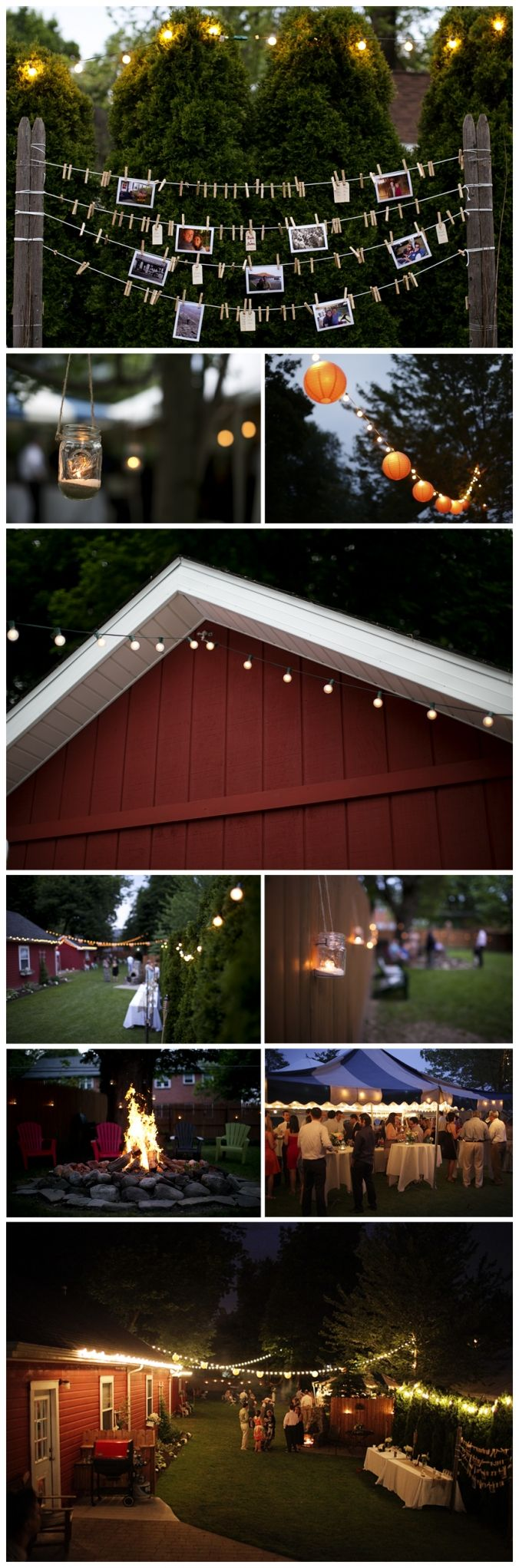 Shaw Photography Co. Backyard Wedding Reception String Lights