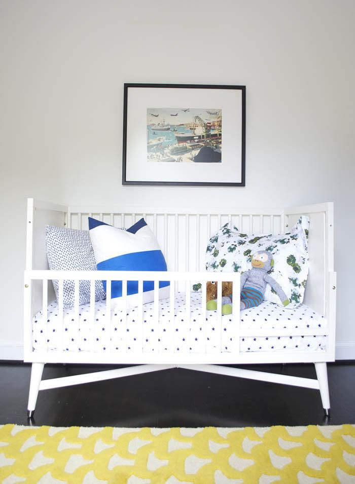 Spotted! From crib to toddler bed, our Mid-Century French Convertible Crib makes a statement in any room.