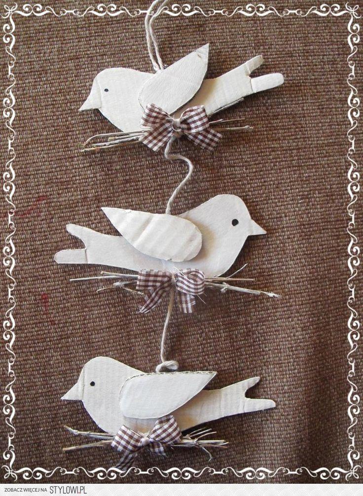 girlanda -ptáčci z kartonu