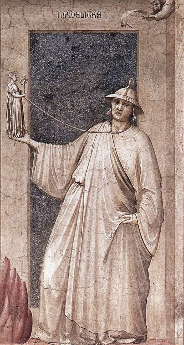 Infidelity, The Seven Vices, 1306, Cappella Scrovegni, Padua, Giotto di Bondone (1267-1337)