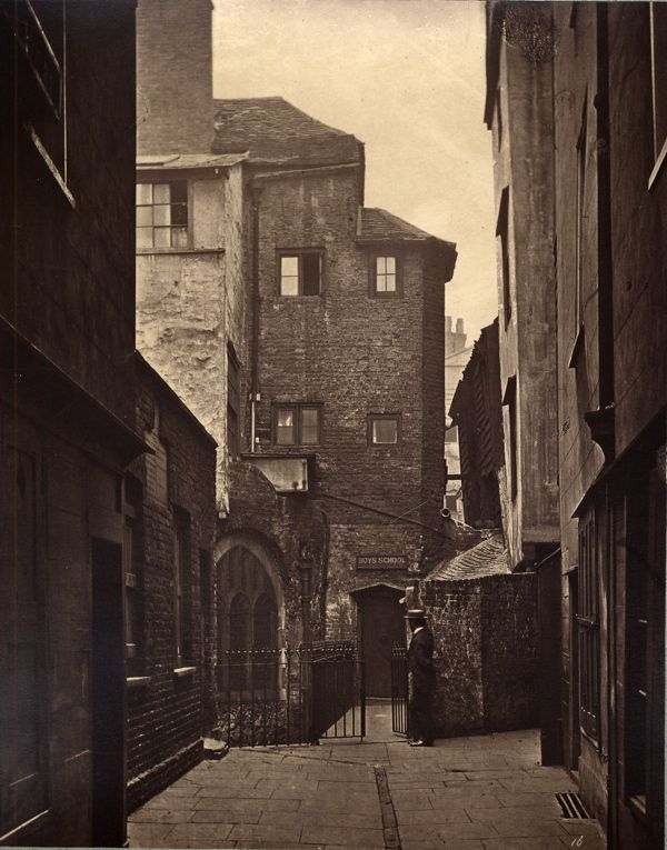 The rear of St Bartholomew's Church. Photo by Henry Dixon for the Society for Photographing Relics of Old London, after 1875