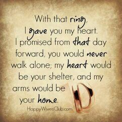 With that ring...