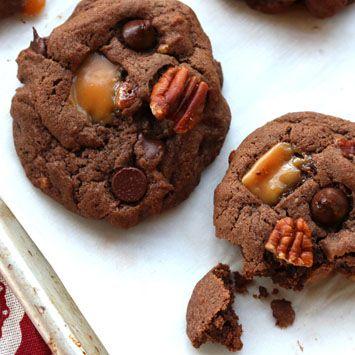 Mexican Chocolate Caramel Pecan Cookies (Turtle Cookies) Recipe