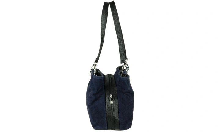 Damska Torebka Granatowa Zamszowa 30x20 Cm 9071774649 Oficjalne Archiwum Allegro Rebecca Minkoff Hobo Bucket Bag Bags