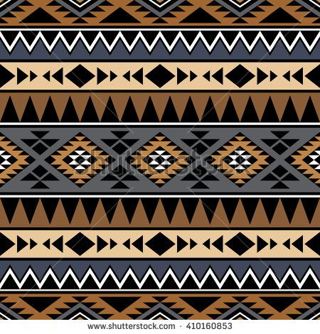 Seamless pattern with tribal aztec motives. Ethnic stylized abstract wallpaper. Aztec pattern. Boho design. Aztec print template for fabric and paper.