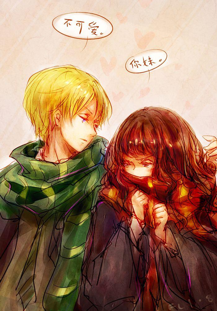 HP_Draco x Hermione by FLAFLY.deviantart.com on @deviantART