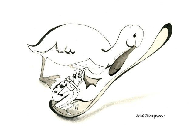 Alice Thompson: The Duck and the Frog with a Runcible Spoon