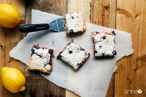 Food and Drink. Try these amazing Lemon Berry Dessert Bars. Find the recipe at howdoesshe.com