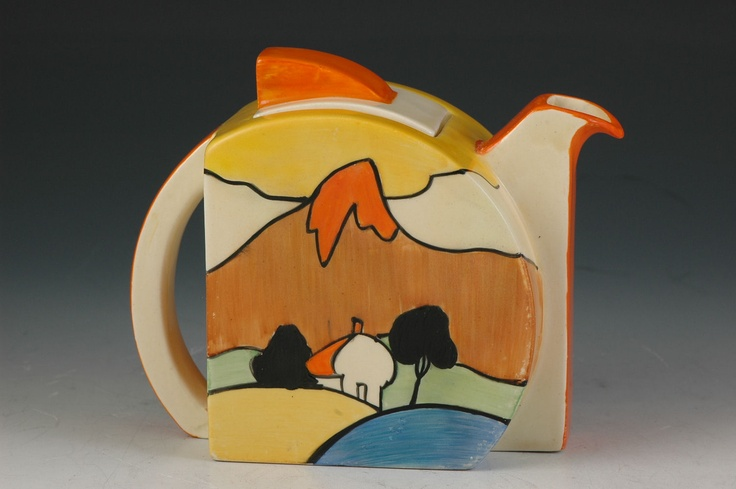 Andrew Muir | Clarice Cliff, Art Deco Pottery, Moorcroft and 20th Century Ceramics Dealer - Mountain stamford teapot