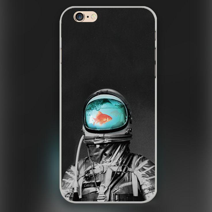 Подводный астронавт дизайн прозрачный чехол чехол сотовый мобильный телефон чехол для apple iphone 4 4S 5 5c 5S 6 6 s 6 большой жёсткая раковина