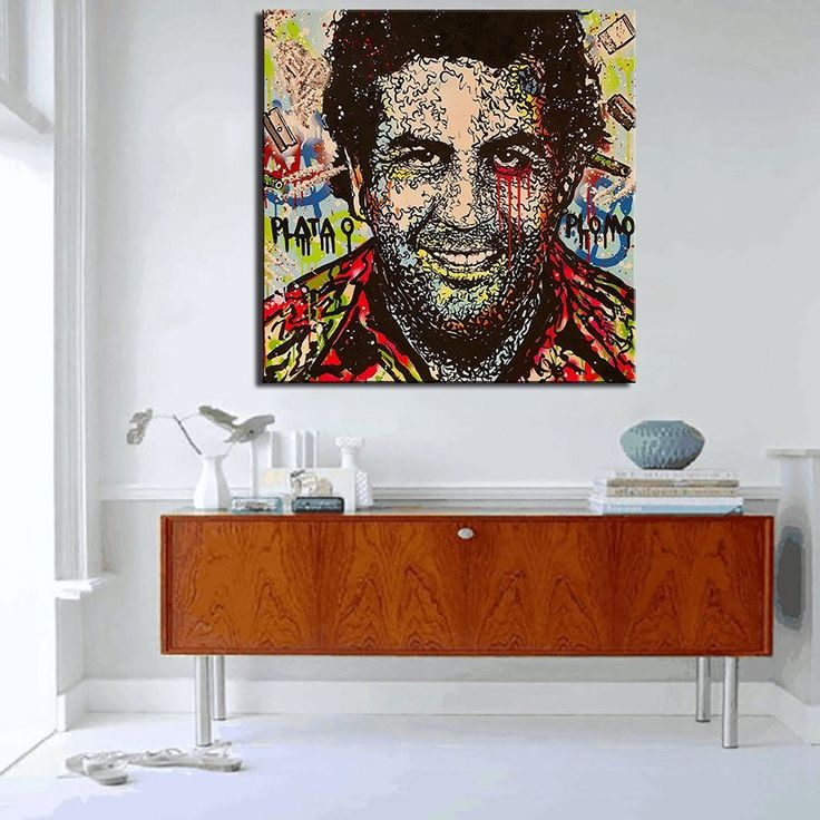 Pablo Escobar Narcos Oil Painting On Canvas – Cozy Everywhere