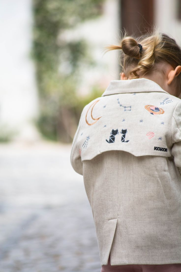 linen moon jacket ss17 by kokori #jacket #girlswear #kidsfashion #girls #ss17 #2017 #cute #children #kids #childrenphoto #shooting #trend #fashiontrend #pretty #prettykids #cutekids