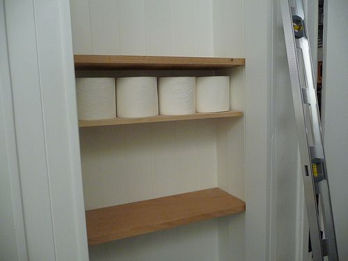 open shelf above toilet for toilet paper   – Bathroom ideas – #bathroom #Ideas #…   – most beautiful shelves