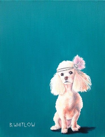 """""""When you're the most exciting person at the party, it's time to leave."""" - Nikki.  Whimsical Poodle Pet Portrait by Beth Whitlow"""