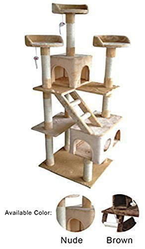 New 72 Cat Tree Condo House Furniture Post Bed Pet Cat House tower toy Nude -- You can find more details by visiting the image link.