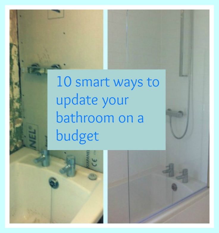 98 best images about redo the ugly bathroom on pinterest for Inexpensive bathroom updates