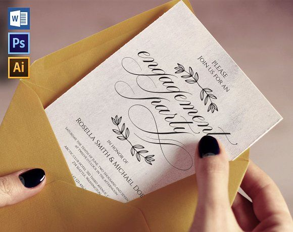 Engagement Party Invitation Wpc223 @creativework247