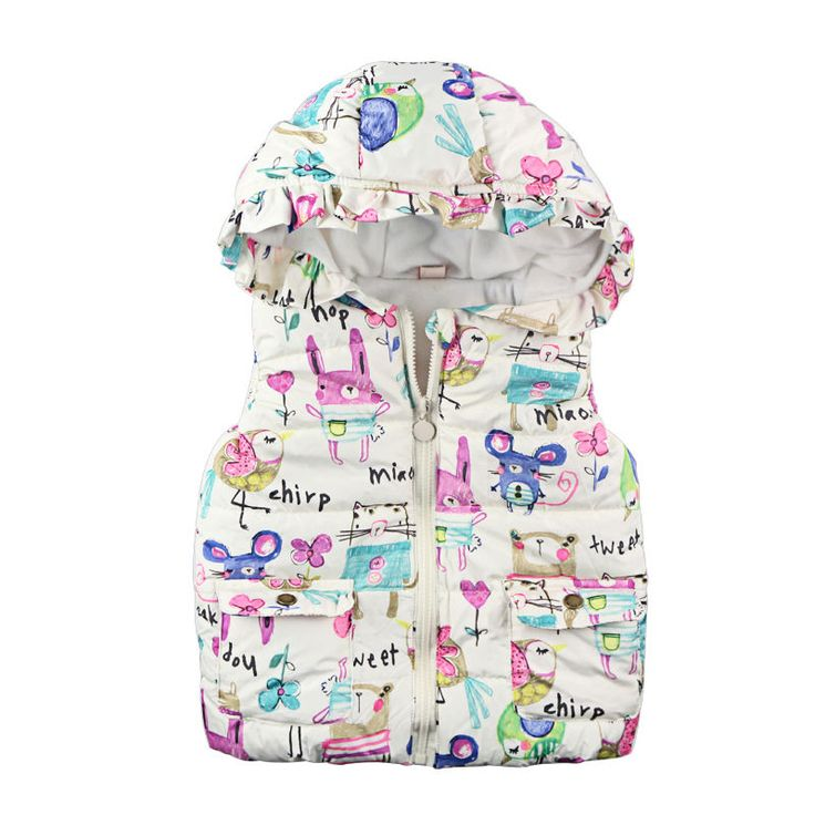 >> Click to Buy << Cute Baby Girl Clothes Flower Toddler Kids Waistcoat Outwear Coat Autumn Winter Hooded Outfit Clothes #Affiliate