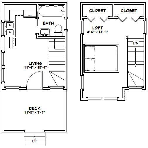 12x16 Tiny House 12x16h6 367 Sq Ft Excellent