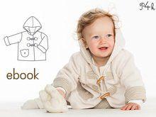 """Baby Jacke, Babyjacke mit Kapuze, Winterjacke, Hoodie, Kinderjacke, einfaches Schnittmuster, Ebook mit Anleitung, """"Brio"""" von Pattern4kids"""