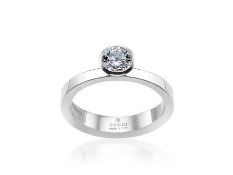 Gucci Platinum .52ct Diamond Solitaire Engagement Ring