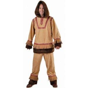 Costume Déguisement Esquimau Brun Homme Deluxe