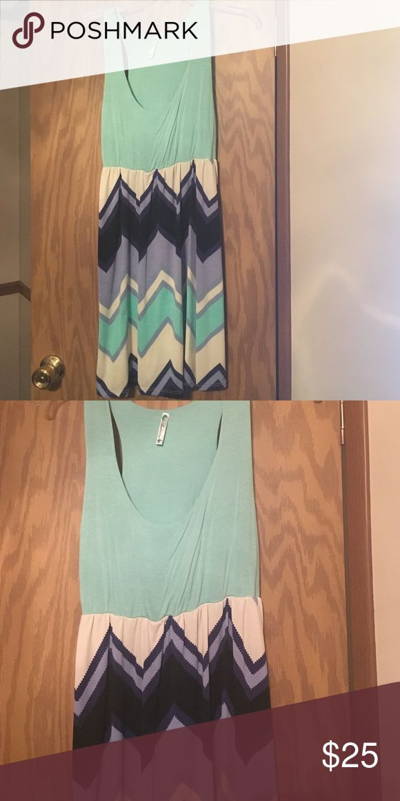 Mint Chevron dress Mint Chevron Dress. Size Medium. Worn once great condition. dottie couture Dresses Mini