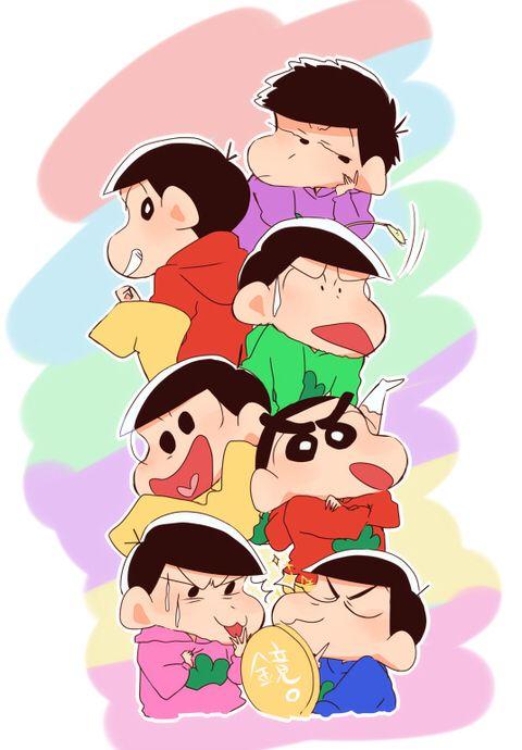 Crayon Shin Chan - Osomatsu, Karamatsu, Choromatsu, Ichimatsu, Jyushimatsu &…