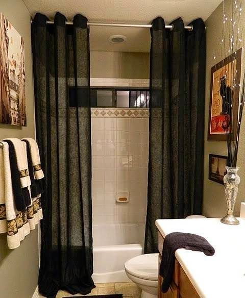 Bathroom Decorating Ideas With Shower Curtains | Kitchendesigningideas.net