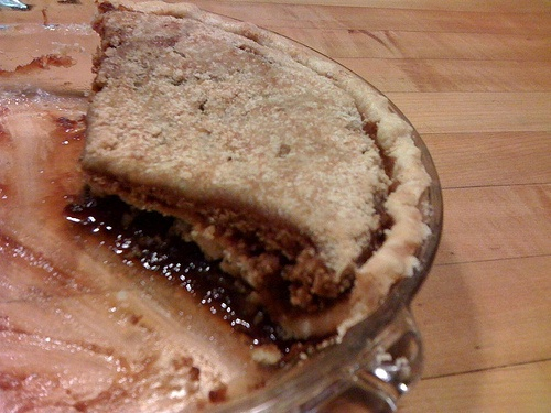 ... on top. It's also known as Shoo-Fly Pie, Shoefly Pie, and Shoo Fly Pie