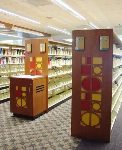 furniture for libraries. teen area display shelving with tmc end panels and opac station u003du003dlibrary interior furniture for libraries