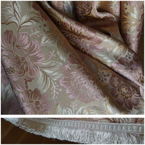 Add Luxury in your Life! Vintage Bedspread Coverlet Jacquared Brocade by VintageHomeStories