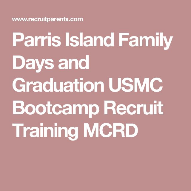 Parris Island Family Days and Graduation USMC Bootcamp Recruit Training MCRD