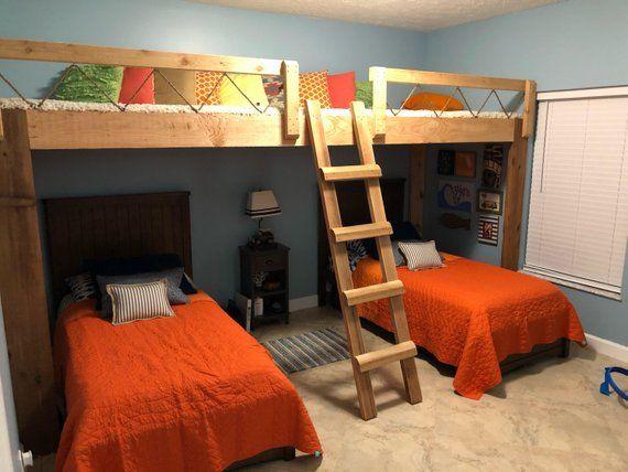 Cedar Loft Bed Space Bedroom Lounge Area For