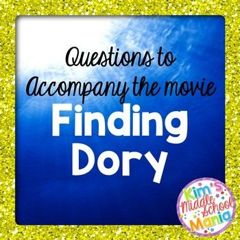 15 movie questions to accompany Finding Dory. Several English/Language Arts concepts are covered including: foreshadowing, conflict, resolution, character traits, situational irony, and comparing and contrasting. You might also like: Shrek Movie QuestionsorELA Movie Questions HUGE Bundle! ****************************************************************************Check out my store for more great resources!