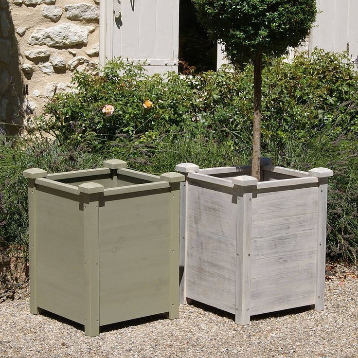 33 Best Images About Wood Planter Tree Box On Pinterest: Exterior French Flower Boxs Supplier, Waterproof Flower