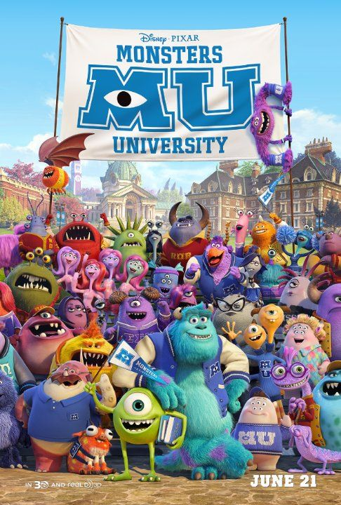 Monsters University (2013) +I don't already remember Monsters, Inc. But I guess it doesn't matter--underdog college-themed movie using monsters (who act better than most real ones).