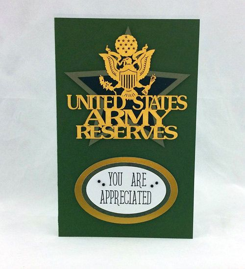 Handmade US Army Reserves Card by CraftyGalCards on Etsy