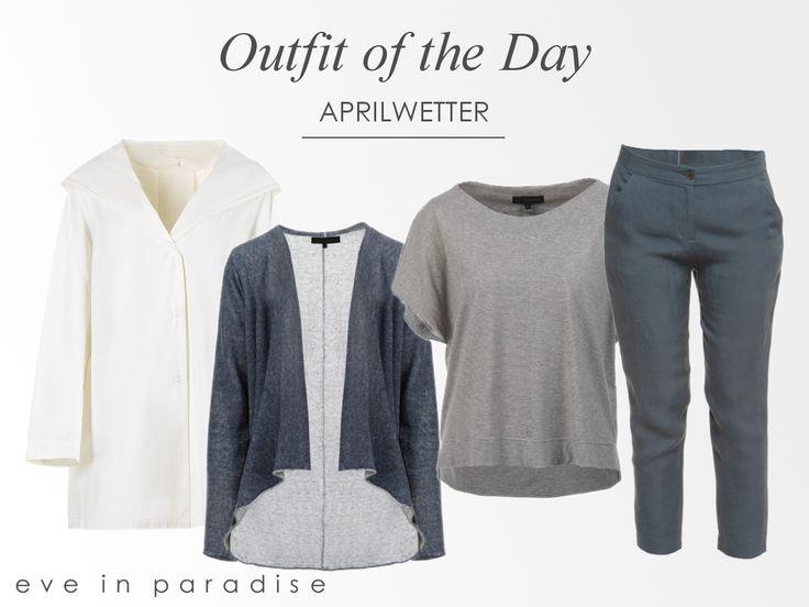☂ oder ☼, unser #OutfitOfTheDay passt zu jedem #Aprilwetter! ☺Beteiligte Darsteller: Kapuzen-Mantel Filippa, Cardigan Melanie, Top Kylie und Hose Icy - würdest Du es tragen? #springcollection #ootd