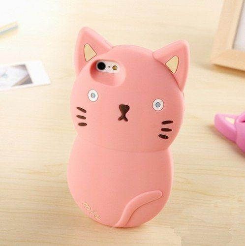 funda especial silicona gato mio iphone 4s, 5s ,6 - belgrano