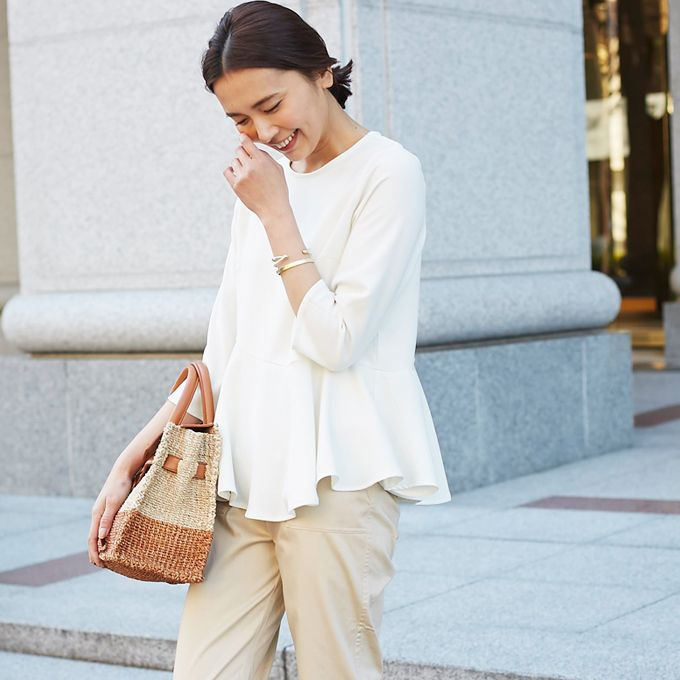 【Peplum blouse】レディース  ペプラム ブラウス