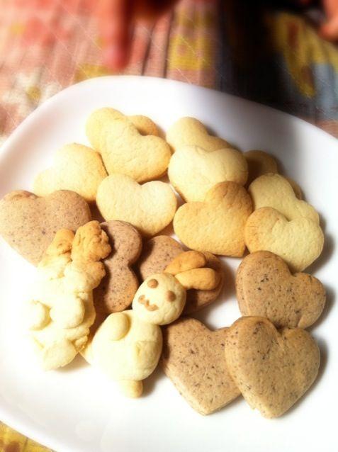 暇な休日は息子とお菓子作り♡ - 9件のもぐもぐ - 親子で練乳クッキー♡ by m0m0usa